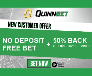 Quinnbet Money Back – Quarterback – Get 25% back of your weekly losses